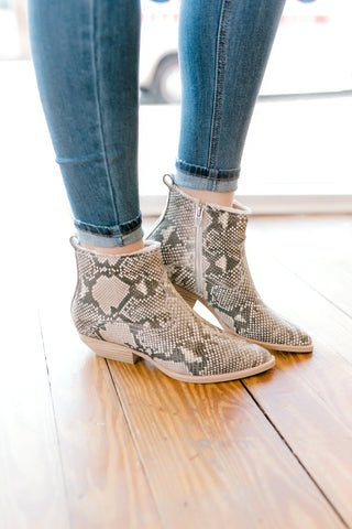 Dolce Vita Unity Leather Bootie -Snake Print