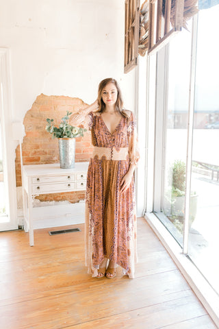 Free People Mexicali Rose Maxi Dress -Ivory