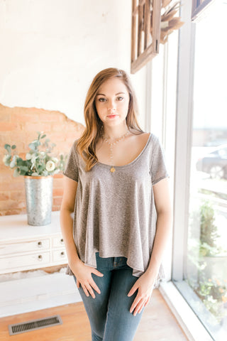 Free People Nori Tee -Grey