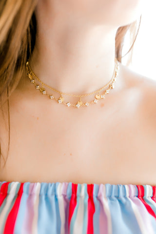 Henley Necklace -Gold Circles