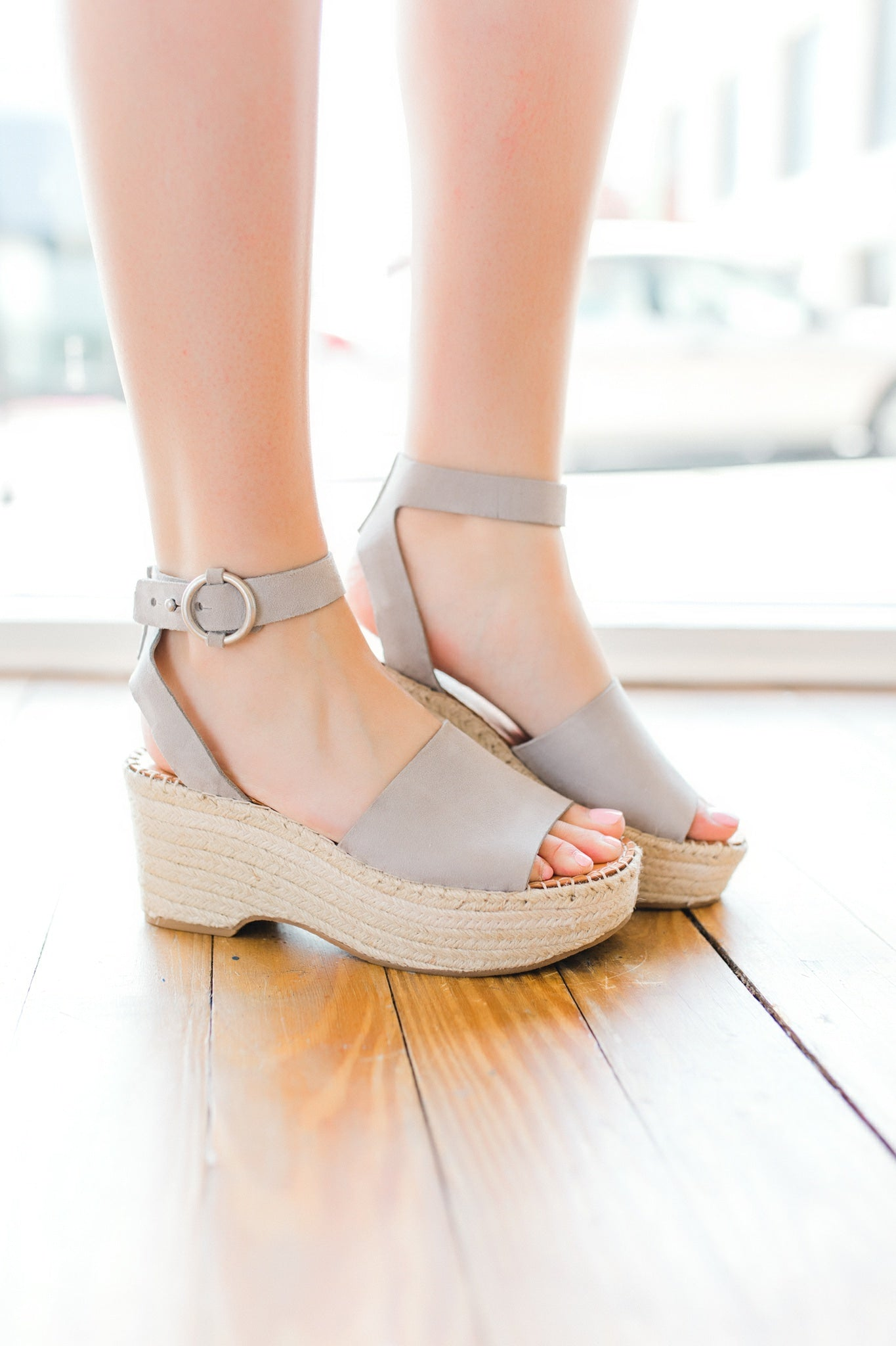 Lesly Wedges -Grey