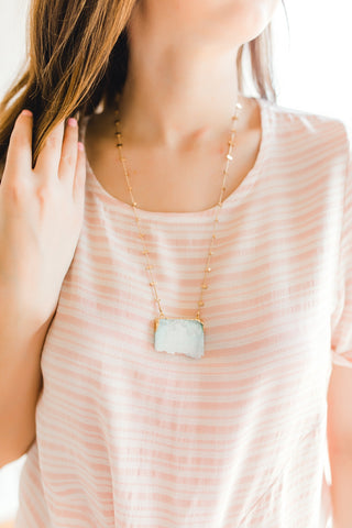 Amanda Necklace -Mint