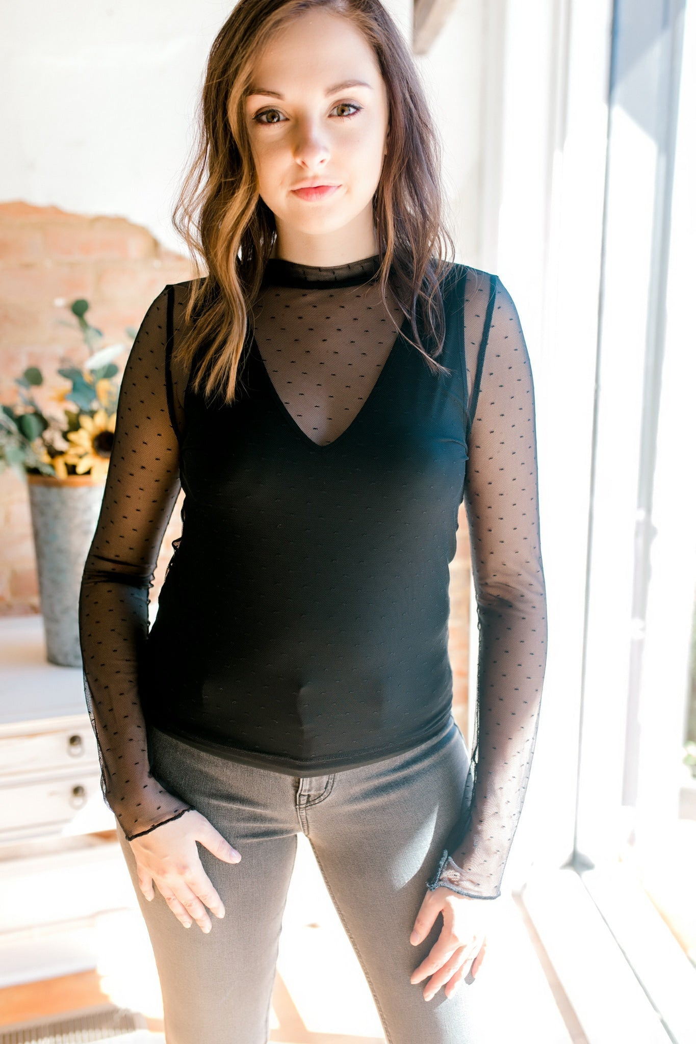 Free People Lea Top -Black