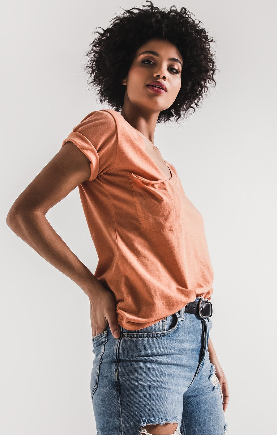 Z Supply The Pocket Tee -Coral Rose