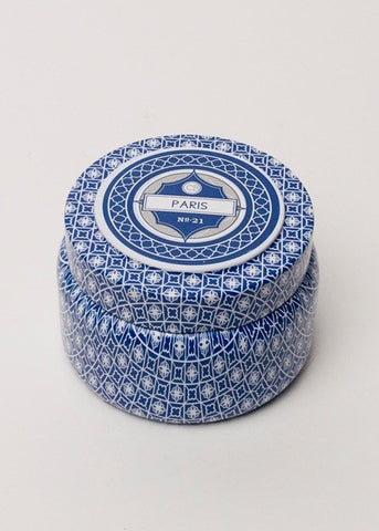 Capri Blue Candle Printed Tin-Paris