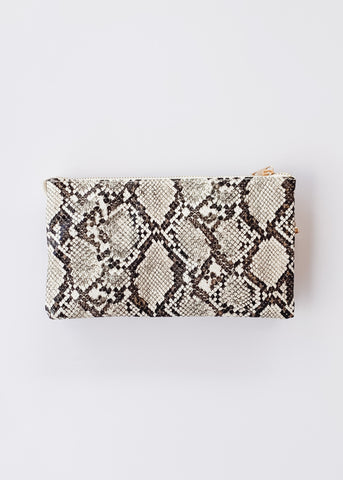 Crossbody Bag -Snake Neutral