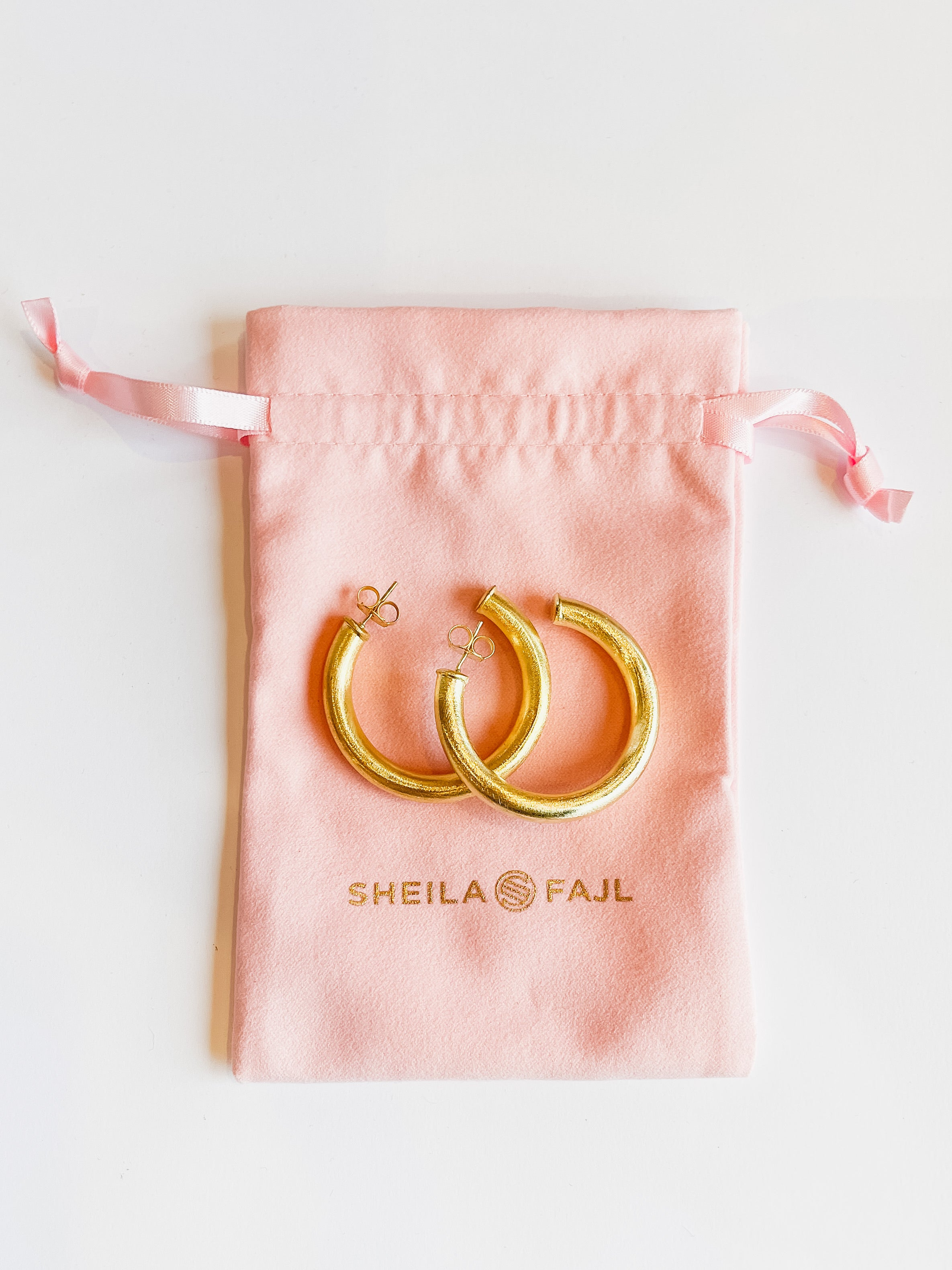 Sheila Fajl Chantal Hoops -Brushed Gold