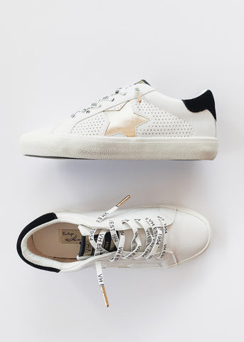 VH Dotted Star Sneakers -White/Gold