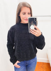 Chenille Sweater -Black