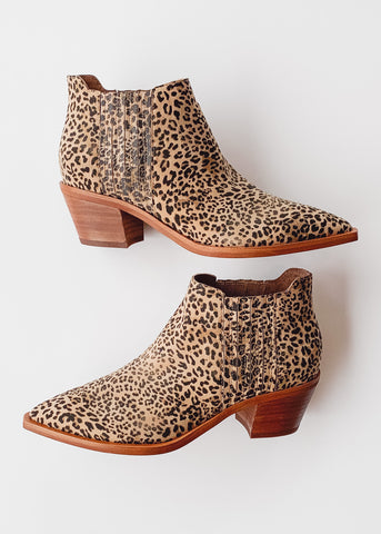 Dolce Vita Shana Booties -Dusted Leopard Suede