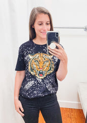 Carr Bleached Tiger Graphic Tee