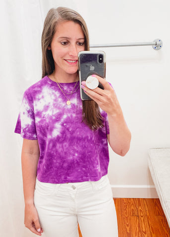 Juliet Purple Tie Dye Tee