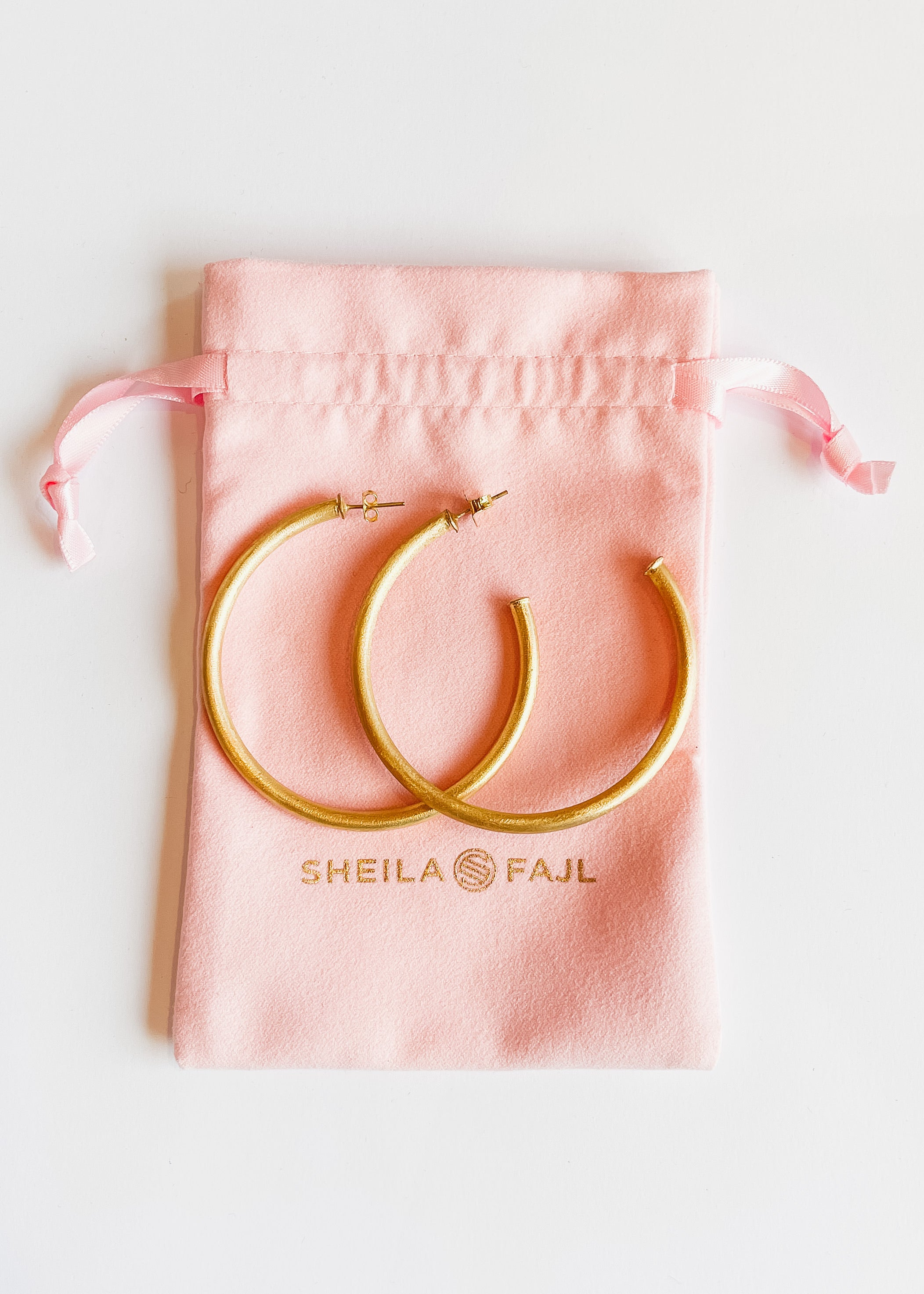 Sheila Fajl Everybody's Favorite Hoops -Brushed Gold