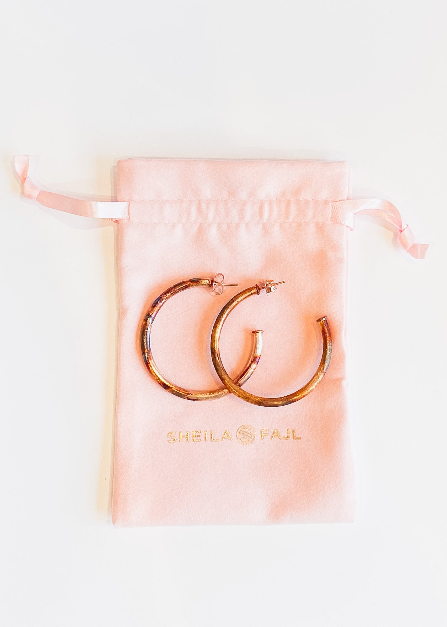 Sheila Fajl Smaller Favorite Hoops-Burnished Gold