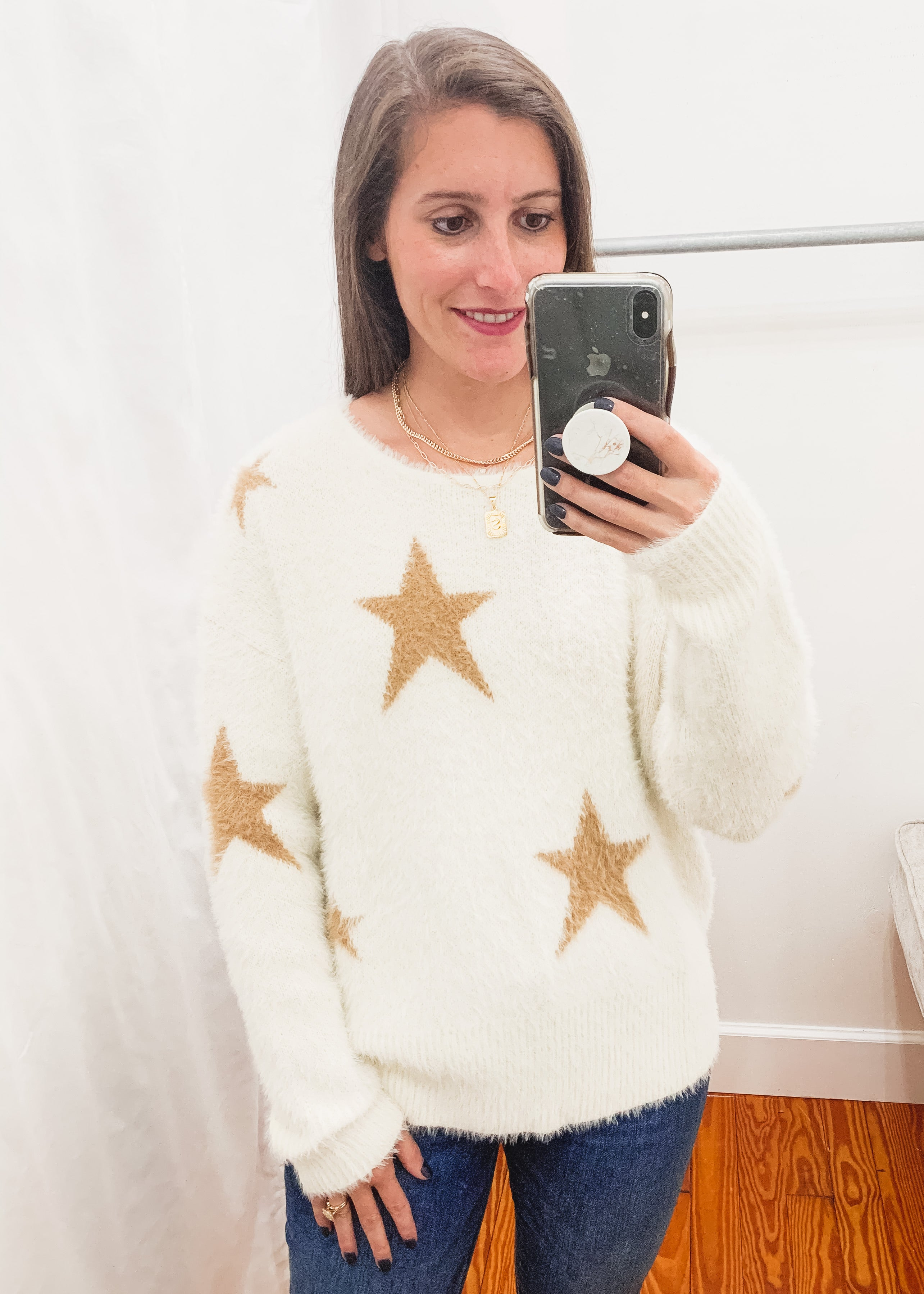 Spears Star Sweater -Ivory
