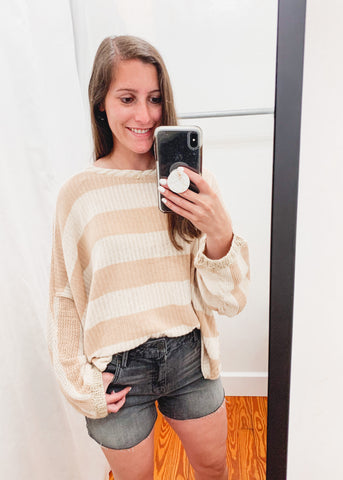 FREE PEOPLE: Bayway Sweater -Neutral