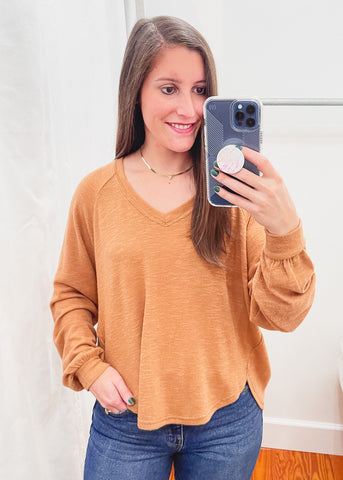 Z SUPPLY: Plira Slub Sweater Top -Salted Caramel