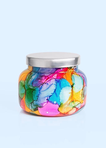 Capri Blue Rainbow Water Color Jar -Volcano