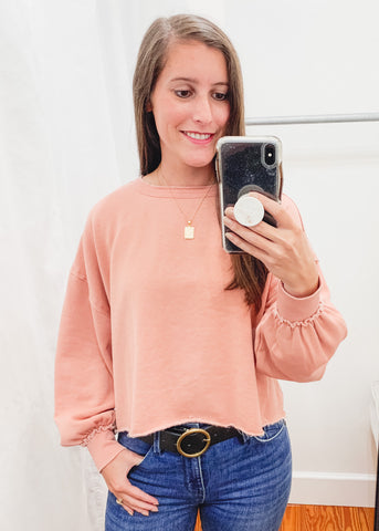 Z SUPPLY: Tempest Sweatshirt -Petal Pink