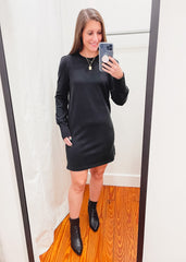 Z SUPPLY: Kyra Terry Dress -Black