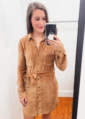 Z SUPPLY: Emelyn Cord Dress -Camel