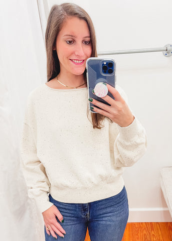 Z SUPPLY: Allie Speckled Sweatshirt -Natural