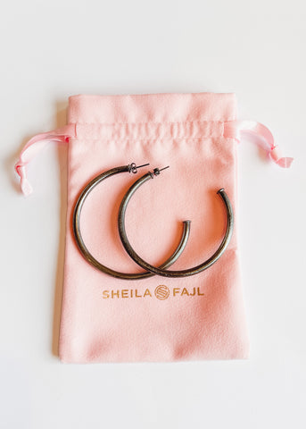 Sheila Fajl Everybody's Favorite Hoops - Gunmetal
