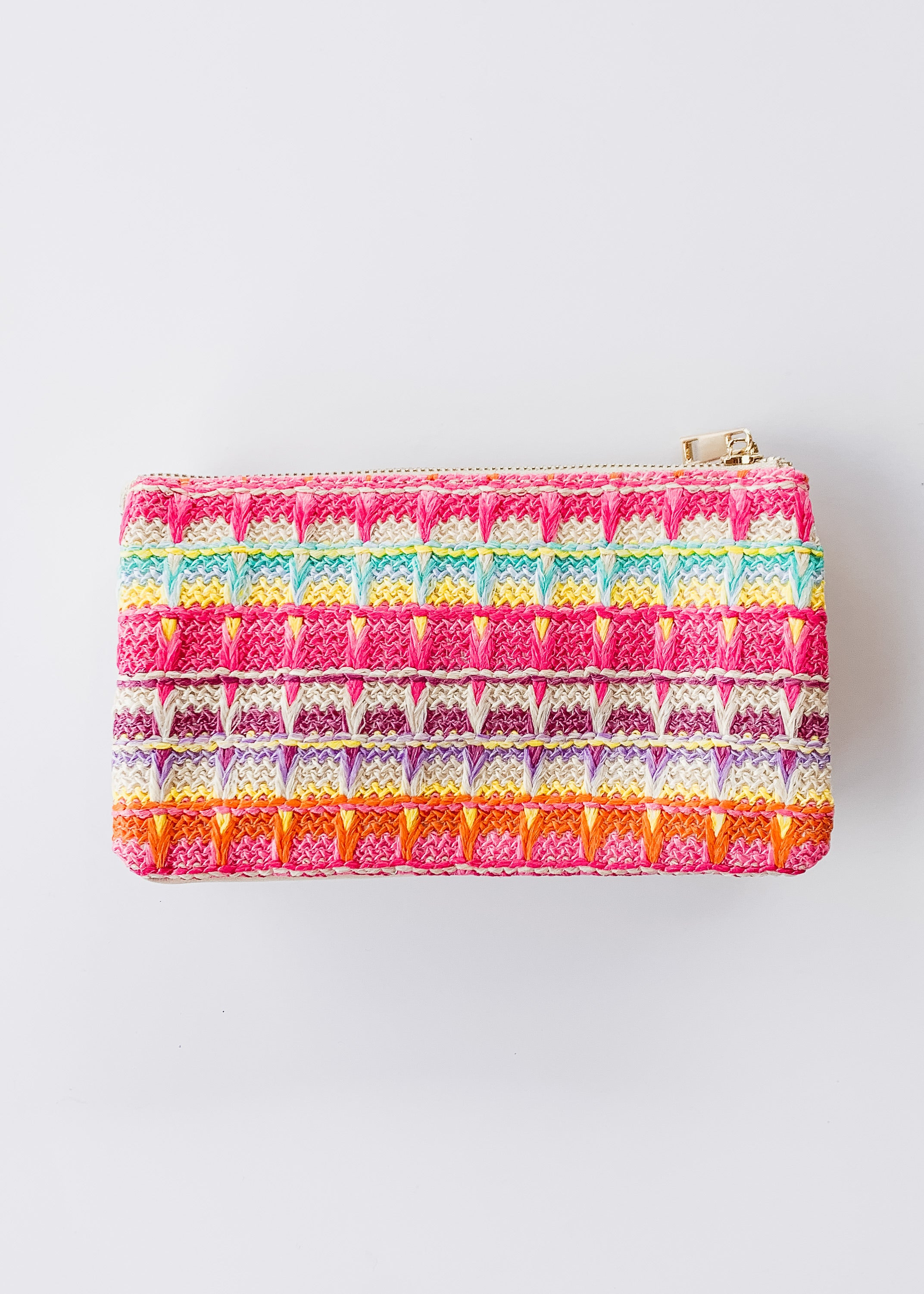 Crossbody Bag -Straw Bright Multi
