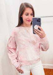 Roma Drop Shoulder Sweatshirt -Pink