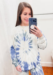 French Terry Spiral Tie Dye Top