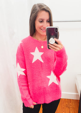 Spears Star Sweater -Pink