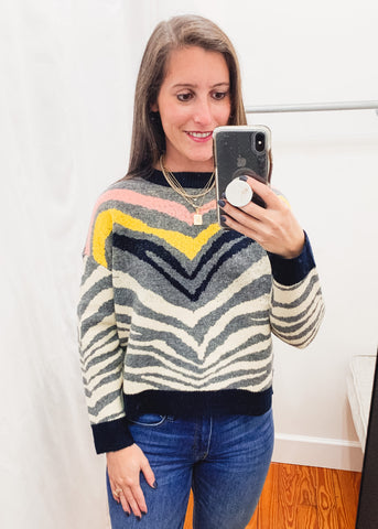 Zebra Stripe Sweater