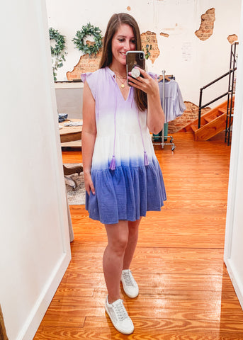Tie Dye Gauze Boho Dress