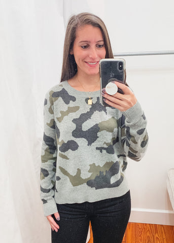 Camo Star Detail Sweater