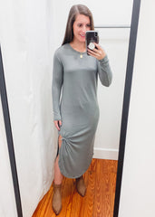 Z SUPPLY: Ray Slub Sweater Dress -Ash Green