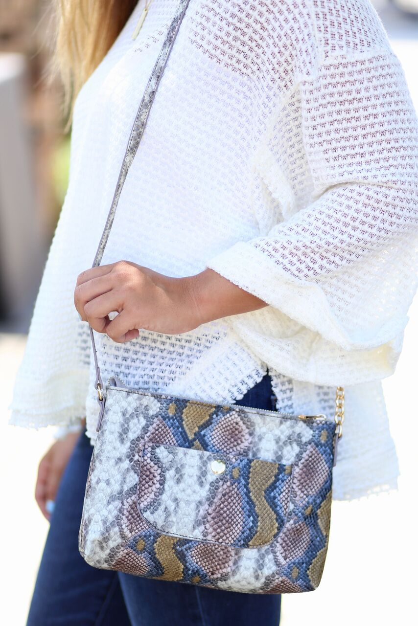 Loreli Crossbody -Snake Multi