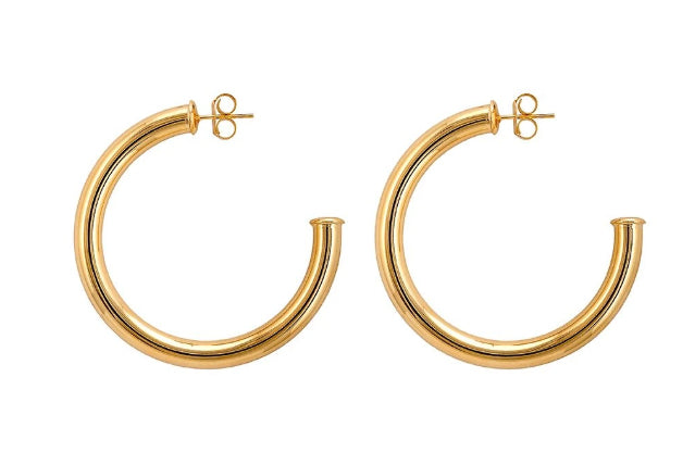 Small Arlene Hoops -Polished Gold