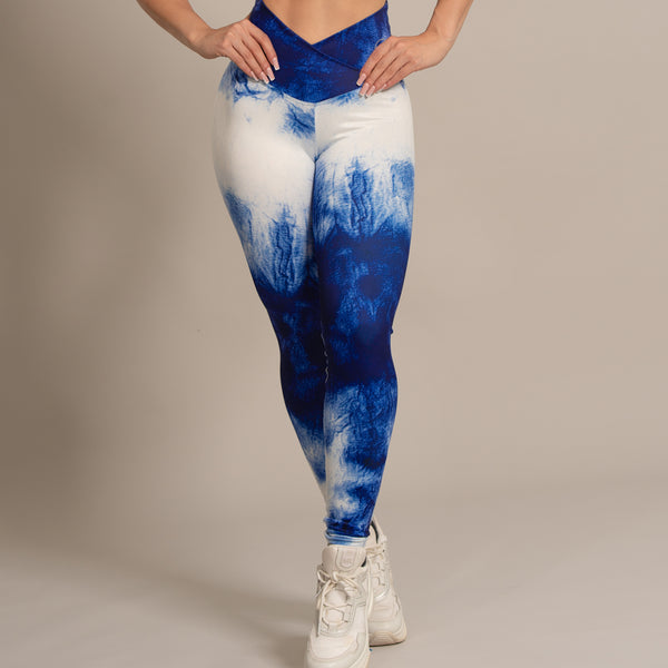 Leggings Blue-White 006