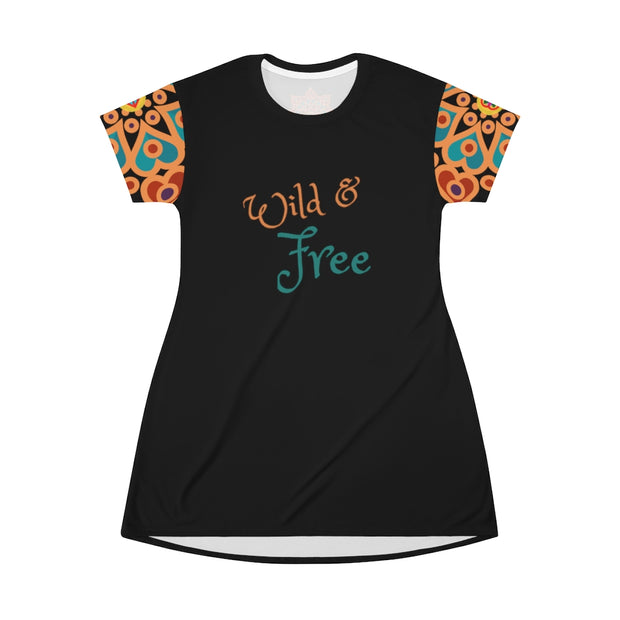 bronzeHIPPIE Logo Wild & Free T-Shirt Dress