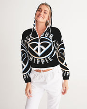 Embrace Your Inner HIPPIE Women's Cropped Windbreaker