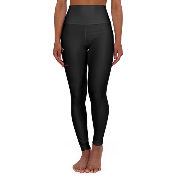 bronzeHIPPIE Lifestyle Logo High Waisted Leggings