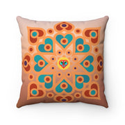 bronzeHIPPIE Mandala Polyester Square Pillow