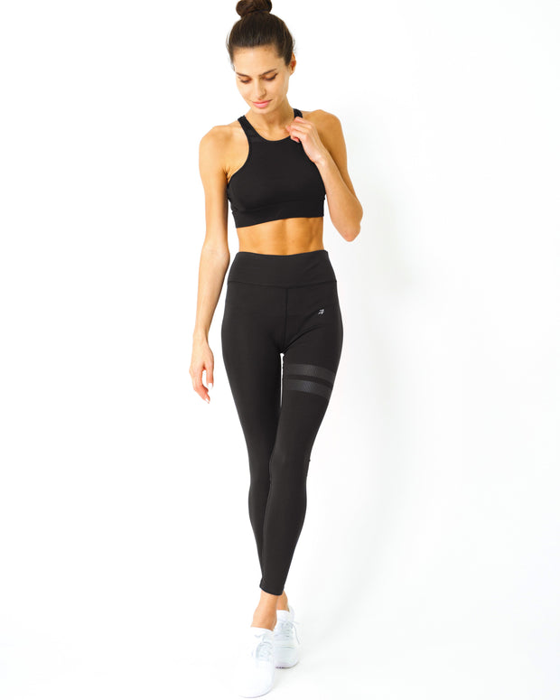 """Everyday Active"" - Sports Bra & Leggings - Black"