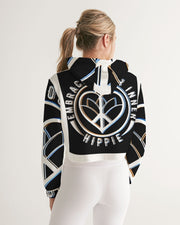 Embrace Your Inner HIPPIE Women's Cropped Hoodie