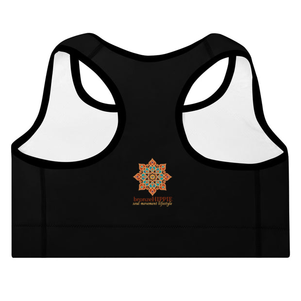 bronzeHIPPIE Logo Padded Sports Bra
