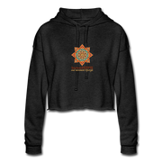 bronzeHIPPIE Logo Cropped Hoodie - deep heather