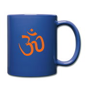 bronzeHIPPIE Logo  Om Mug - royal blue