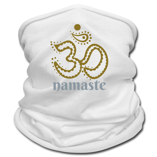 Om Namaste Multifunctional Scarf - white