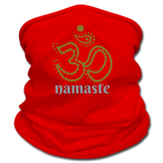 Om Namaste Multifunctional Scarf - red