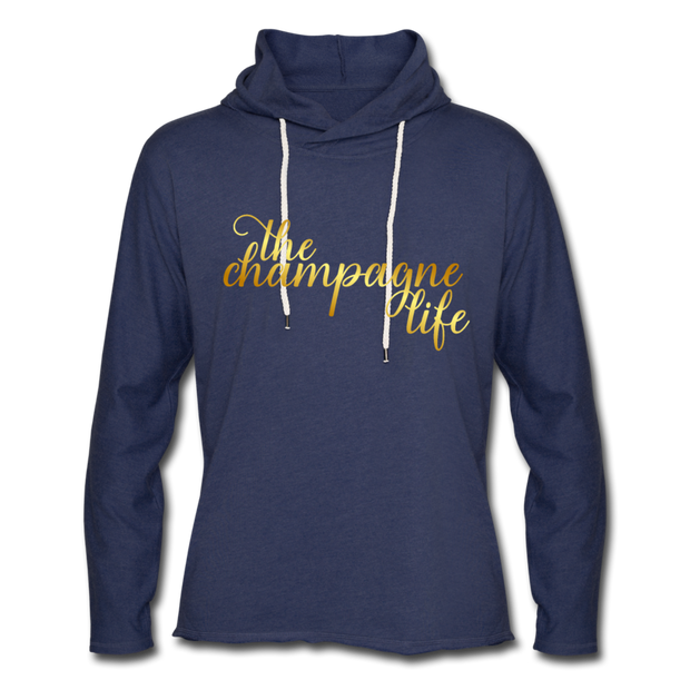 The Champagne Life Lightweight Hoodie - heather navy